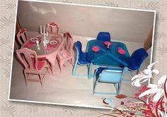 Barbie Blue & Pink dinning rooms