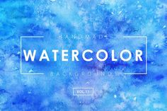 Handmade Watercolor Backgrounds Vol.11 by M-e-f