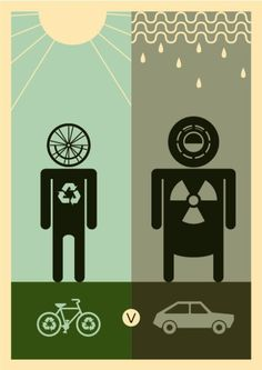 Bikes Vs Cars Pollution bicyle VS car
