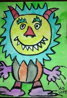 """""""Where the Wild Things Are"""" art project..."""