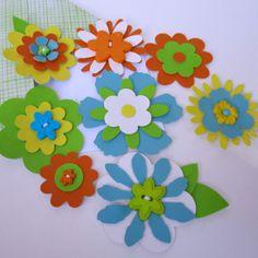 Items similar to Handmade Summer Fabric Flowers (set of on Etsy Fabric Flowers, Embellishments, Fabrics, Kids Rugs, Unique Jewelry, Handmade Gifts, Summer, Vintage, Etsy