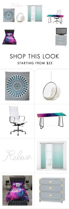"""""""New room"""" by awesomesullivan ❤ liked on Polyvore featuring interior, interiors, interior design, home, home decor, interior decorating, NOVICA, DENY Designs, PBteen and Bungalow 5"""