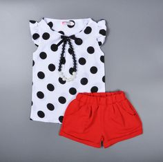 Cheap clothes paypal, Buy Quality clothing safety directly from China clothing modern Suppliers: 						DESCRIPTION							Products:2-6Y girls clothing sets Polka Dot shirt+solid color shorts suit summer style Chiffon S