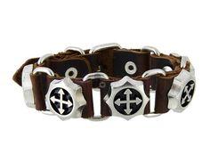 Adjustable Cowhide Chain Cord Bracelet (Brown) Sku:HPM66X Price:$7.78