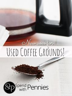 New Uses for Used Coffee Grounds!!