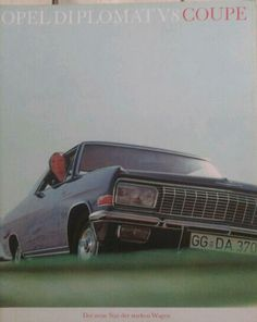 Opel Diplomat V8 Coupe sales brochure