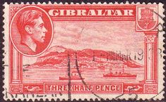 Gibraltar 1938 SG 123 The Rock Fine Used SG 123 Scott 109 Condition Fine Used Only one post charge applied on multipule purchases Details head King