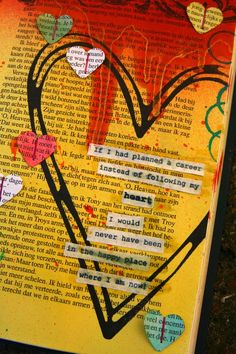 Art journal page passion.detail