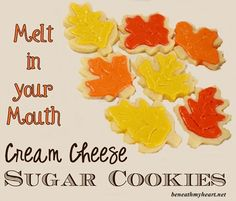 Melt in your mouth cream cheese sugar cookies with almond glaze