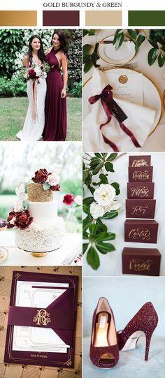 burgundy wedding 2017 trending gold burgundy and green wedding color ideas Wedding Bells, Fall Wedding, Trendy Wedding, Wedding 2017, Wedding Flowers, Chic Wedding, Indoor Wedding, Rustic Wedding, Wedding Reception