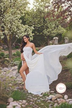 Women's Off Shoulder Strapless Maternity Dress for Photography Split Front Chiffon Gown for Photoshoot Maternity Photography Poses, Maternity Poses, Maternity Pictures, Maternity Dresses, Pregnancy Photos, Maternity Fashion, Chiffon Gown, Sheer Chiffon, Old Navy Maternity