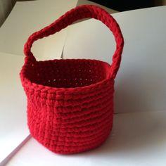 Crochet : Panier (fil Katia Big Ribbon)
