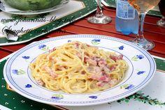 Johanna's recipes: Spaghetti alla carbonara Food To Make, Spaghetti, Ethnic Recipes, Noodle