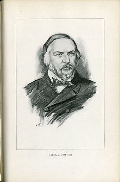 Mikhail Glinka (1804-1857), drawing (1918), by Chase Emerson (1874-1922), after a photograph (1856), by Count Sergey Levitsky (1819-1898).