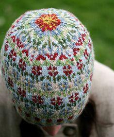 Ravelry: Peerie Flooers pattern by Kate Davies Designs Fair Isle Knitting Patterns, Fair Isle Pattern, Loom Knitting, Free Knitting, Vintage Knitting, Crochet Woman, Knit Crochet, Crochet Granny, Knit Rug