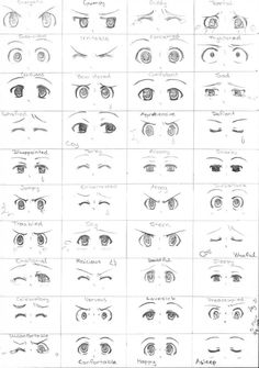 Drawing Tutorial Day 31 - Manga eyes expression by - Eye Drawing Tutorials, Drawing Tips, Drawing Techniques, Drawing Hair Tutorial, Drawing Drawing, Eye Tutorial, Painting Tutorials, Figure Drawing, Drawing Ideas