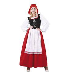 DisfracesMimo, disfraz de pastora aldeana mujer adulto. Este traje es ideal para representar en tu función de navidad los oficios de Belén. Este disfraz es ideal para tus fiestas temáticas de disfraces de navidad y cabalgatas infantiles