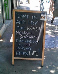 This is a restaurant owner with a sense of humor.