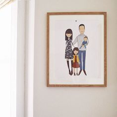 We finally got our updated family portrait framed  just in time for my portrait of a home film for the #MakeFilms12 course Im doing. I even made T hang it for the camera. Twice  The video is on my blog this morning x