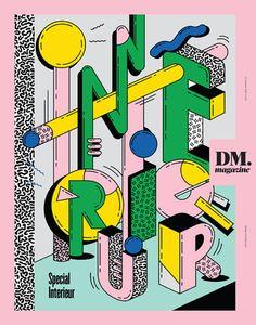 De Morgen DM magazine (Bruxelles / Brussel, Belgique / Belgium). Colour palette. Typography. Illustration.