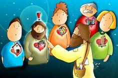 Ha llegado la salvación a tu casa. Jesus Jose Y Maria, Lucas 12, Jesus Cartoon, Jesus Is Alive, Religion Catolica, Kids Church, Bible Stories, Journal Inspiration, Gods Love