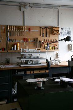 Home Workshop for industrial designer Dieter Rams. Rams began at the German manufacturer Braun in 1955.