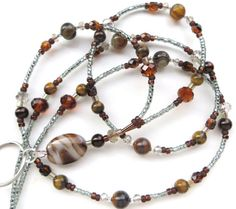 Hey, I found this really awesome Etsy listing at https://www.etsy.com/listing/264409417/elegant-agate-desert-beaded-id-lanyard