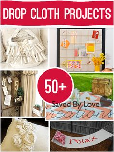 #50 DIY Budget Drop Cloth Rustic Farmhouse Home Decor Projects !! by  (Saved By Love Creations)