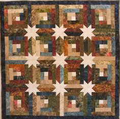 log cabin hidden star quilt | Log Cabin Hidden Stars - Quilt With Us