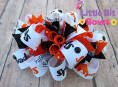 Black and Orange Spooky Halloween Boutique Funky by littlebitbows