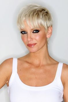 Here are the haircuts for blonde hair! I'm going with and you? Short Blonde Pixie, Short Sassy Hair, Short Grey Hair, Very Short Hair, Short Hair Cuts, Short Hair Styles, Short Hairstyles For Women, Pixie Hairstyles, Ash Blonde Hair