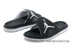 fd70a36ab3a8e Air Jordan Hydro Slide Sandals Black White New Style