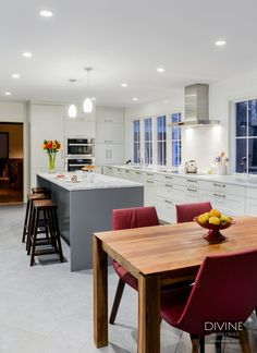 White and gray rat in kitchen design