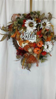 Thanksgiving Wreaths, Autumn Wreaths, Holiday Wreaths, Thanksgiving Decorations, Fall Decorations, Holiday Decor, Christmas Decor, Wreaths For Front Door, Door Wreaths