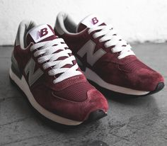 New Balance 990 – Burgundy Maybe not this color but love the style.