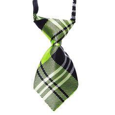 HelloDefiance, Green Check-Stripes Dog Tie, best, HelloDefiancecheap