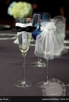 His and Her Toasting Flutes