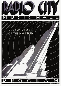 Radio City    1934; illustration by Harold K. Simon.