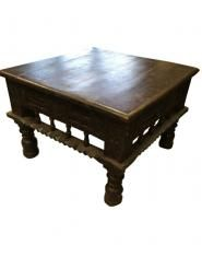 indian home furniture carved wood coffee table #indian home