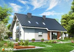 Dom w złoci, Fot Archon, #domowy #projektydomów #elegancki #taniwbudowie, #pieknydom