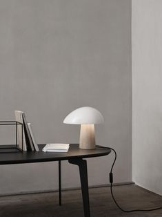 Combining an ash wooden base and polycarbonate shade the Night Owl Table Lamp from Fritz Hansen is a versatile table, desk or bedside lamp. It comes in two size and colour variations. Fritz Hansen, Bedside Lamp, Desk Lamp, Table Desk, Table Lamps, Hygge Furniture, Furniture Design, Art Furniture, Plywood Furniture