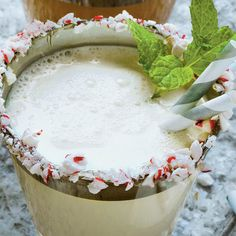 Festive Milk Punch Recipes: Mint-and-White-Chocolate Milk Punch