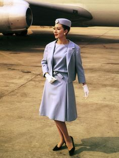 Hôtesse de l'air Air France en Christian Dior - 1963