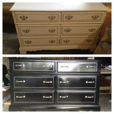 Dresser DIY makeover - before and after