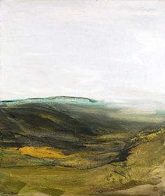 'Paysage de Luberon', oil on canvas, by Dora Maar (French, 1909-1997)