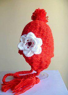 Detské čiapky - Červená čiapočka - 5811854_
