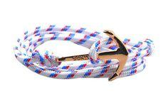 The Art White Gold Anchor & Rope Bracelet