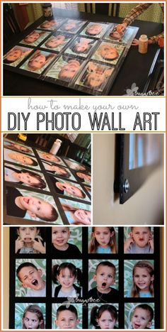 how to make photo wall art diy - love this!!  --Sugar Bee Crafts