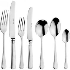 Arthur Price Grecian 7-piece stainless steel place set ($29) ❤ liked on Polyvore featuring home, kitchen & dining, flatware, stainless steel soup spoons, stainless steel utensils, stainless steel dessert spoons, stainless utensils and place setting silverware