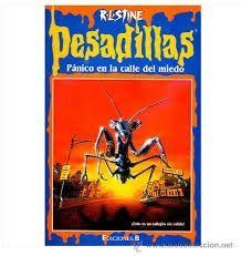 """Ficha de lectura de """"Pesadillas. Pánico en la calle del miedo"""" de R.L. Stine, realizada por Minerva Hernández."""